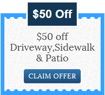 Coupon - $50 Off Driveway, Sidewalk and Patio