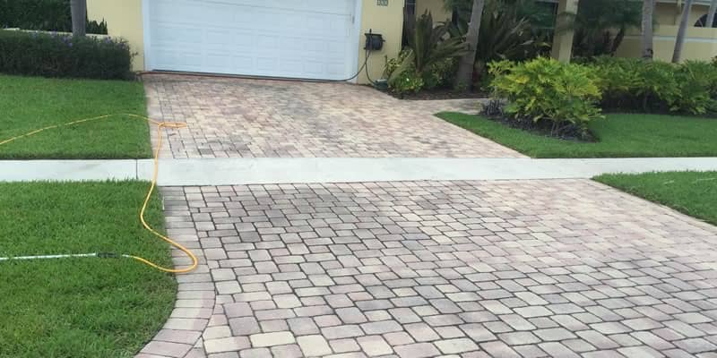 Residential Driveway Pressure Cleaning