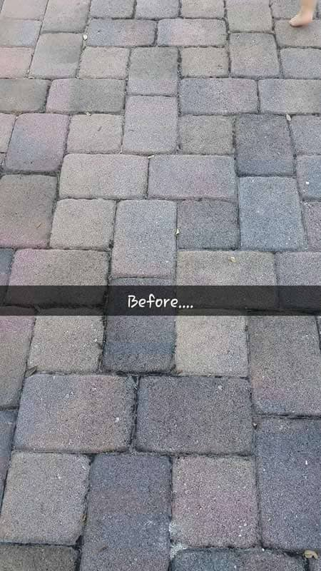 Paver Sealing - Before